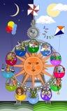 zodiacal karusell Fotografering för Bildbyråer