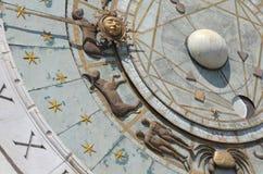 Zodiacal klok royalty-vrije stock foto's