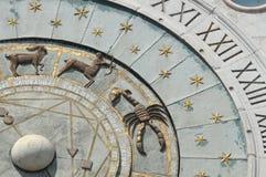 Zodiacal klok stock afbeelding