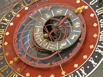 Zodiacal klok in Bern stock fotografie