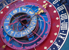Zodiacal klok in Bern stock afbeelding