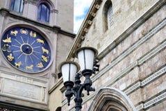 Zodiacal klok op de voorgevel van duomo van Messina royalty-vrije stock foto's