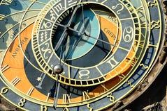 Zodiacal klok in Praag stock foto