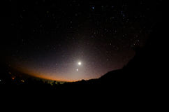 Zodiacal Lights over Doi Inthanon National Park, Chiang Mai, Thailand Royalty Free Stock Photo