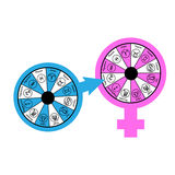 Zodiacal Love Compatibility. Love Compatibility between Zodiac Signs Stock Image