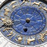 Zodiacal muurklok stock foto's