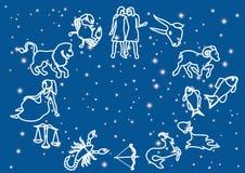 Zodiacal symbols Stock Image