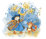 Zodiacal tekens: een Boogschutter Royalty-vrije Stock Foto