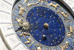 Zodiacal wall clock Royalty Free Stock Photos