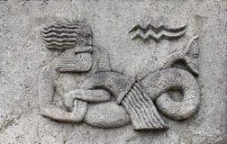 Zodiaco - acuario o Agua-portador foto de archivo libre de regalías
