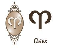 Zodiaco - Aries Fotografie Stock