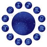 Zodiaco azul ilustración del vector