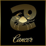 Zodiaco-Cancer royalty illustrazione gratis