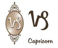 Zodiaco - Capricorn Illustrazione di Stock