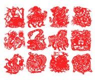 Zodiaco chino stock de ilustración