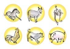 Zodiaco chino B Foto de archivo libre de regalías