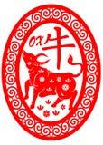 Zodiaco chino - buey stock de ilustración