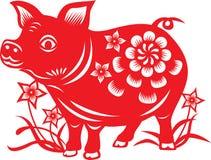 Zodiaco chino: cerdo ilustración del vector