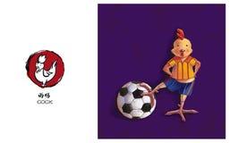 Zodiaco chino, gallo Foto de archivo libre de regalías