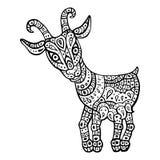 Zodiaco chino Muestra astrológica animal Cabra Foto de archivo