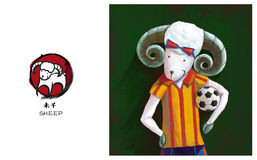 Zodiaco chino, oveja Fotografía de archivo libre de regalías