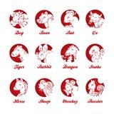 Zodiaco cinese Immagini Stock