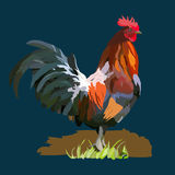 Zodiaco cinese del calendario per 2017 nuovi anni di gallo rosso Immagine Stock Libera da Diritti