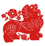 Zodiaco cinese del leone Fotografia Stock Libera da Diritti