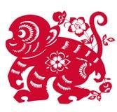 Zodiaco cinese dell'anno della scimmia Immagine Stock Libera da Diritti