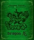 Zodiaco cinese - drago Fotografia Stock