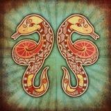 Zodiaco de Grunge - géminis Foto de archivo libre de regalías