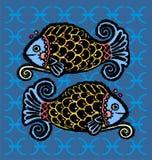 Zodiaco de Piscis ilustración del vector