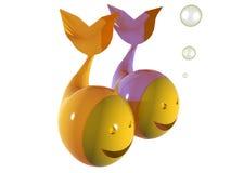 Zodiaco dei Pisces royalty illustrazione gratis