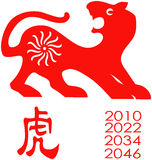 Zodiaco del año del tigre. Imagenes de archivo
