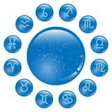 Zodiaco del círculo Imágenes de archivo libres de regalías