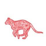 Zodiaco del chino del tigre Foto de archivo libre de regalías