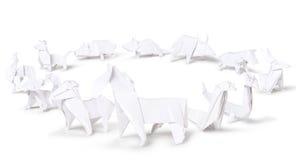 Zodiaco del cinese di origami Fotografia Stock Libera da Diritti