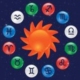 Zodiaco del color stock de ilustración
