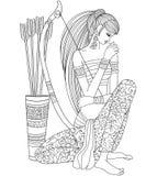 Zodiaco del sagitario Imagen de archivo libre de regalías