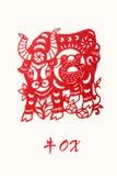 Zodiaco dell'anno del bue Fotografia Stock Libera da Diritti