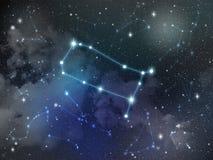 Zodiaco della stella della costellazione dei Gemelli Immagini Stock Libere da Diritti