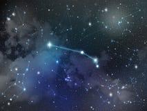 Zodiaco della stella della costellazione dell'Ariete Fotografia Stock