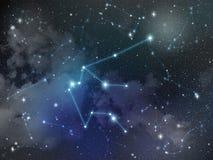 Zodiaco della stella della costellazione di acquario Fotografia Stock Libera da Diritti