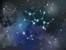 Zodiaco della stella della costellazione di Sagittario Immagini Stock