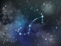 Zodiaco della stella della costellazione di scorpione Immagine Stock Libera da Diritti