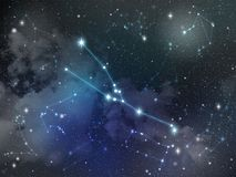 Zodiaco della stella della costellazione di Toro Fotografie Stock