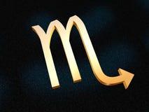 Zodiaco dello scorpione Fotografia Stock Libera da Diritti