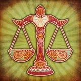 Zodiaco di Grunge - Libra royalty illustrazione gratis
