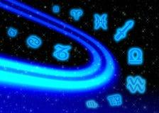 Zodiaco di simboli dello spazio Fotografia Stock