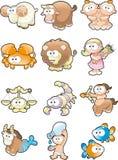 Zodiaco divertido Imagen de archivo libre de regalías